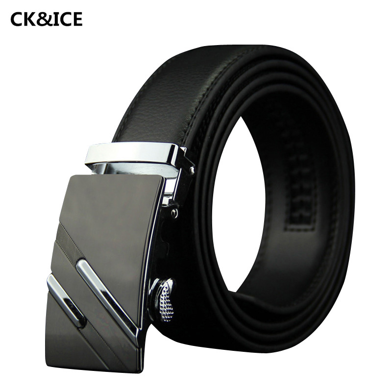 New 2017 Men Belt Business Fashion Automatic Buckle Designer Belts Men's Casual Cow Split Leather Mens Brand Name Belts(China (Mainland))