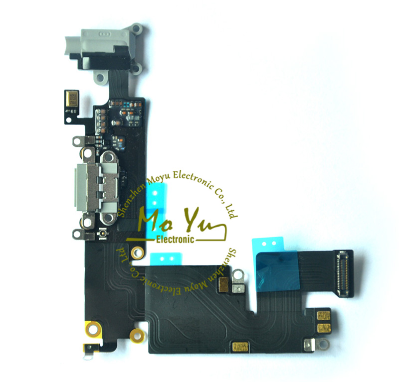 """2015 Hot Sale USB Charging Port Dock Mic Headphone Flex Cable for iPhone 6 PLUS 5.5"""" Dock Connector Flex /Dock Cable Tested well(China (Mainland))"""