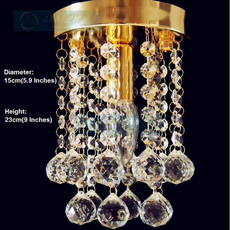 HOT! Free Shipping Small Crystal Chandelier Lustre Light , with Top K9 Crystal and Stainless Steel Frame (P GRC-001) D15cm H23cm(China (Mainland))