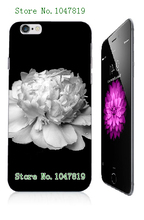Mobile Phone Case Retail 1pc peony Protective White Hard Back Case Cover For Iphone 6 plus Free Shipping