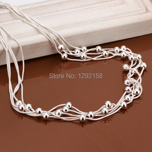 collares mujer Fashion statement necklace 925 sterling silver jewelry silver chain choker necklace women collier femme collar(China (Mainland))