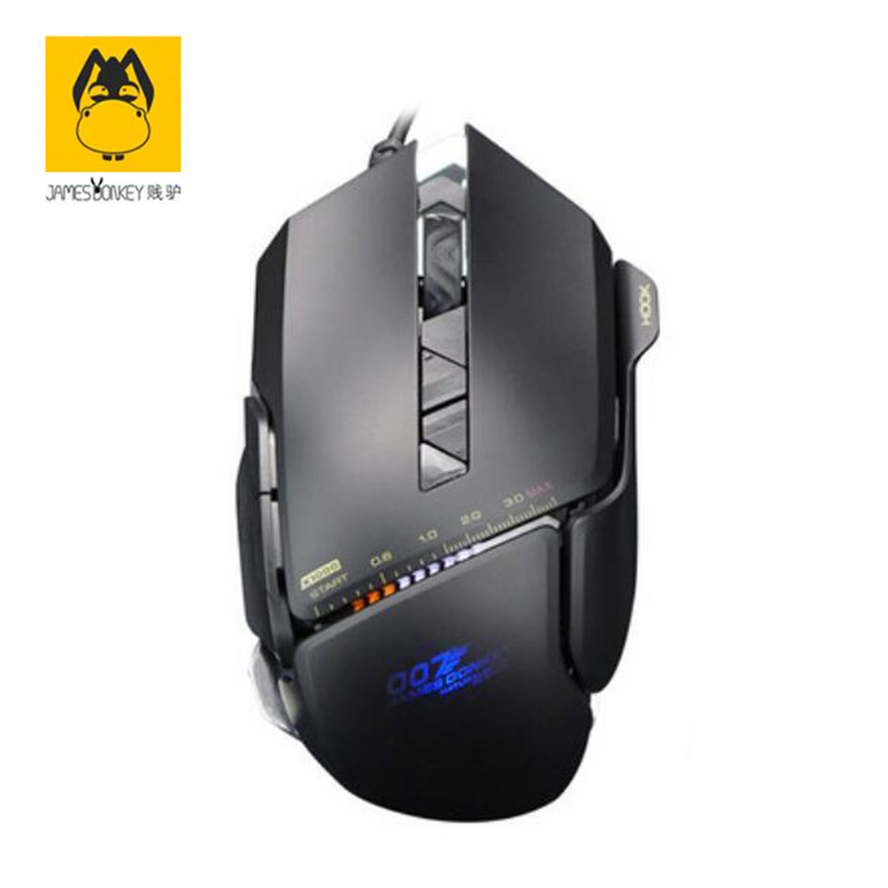 Brand James Donkey 119 Wired Mouse Metal Chassis Cool Sports Car Design Chip 007 Internet Version 5Color Light Absorption Effect(China (Mainland))