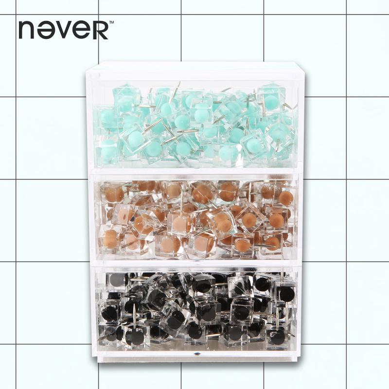 Never square push pin more color creative stationery 80 / box*3,Christmas stationery set(China (Mainland))