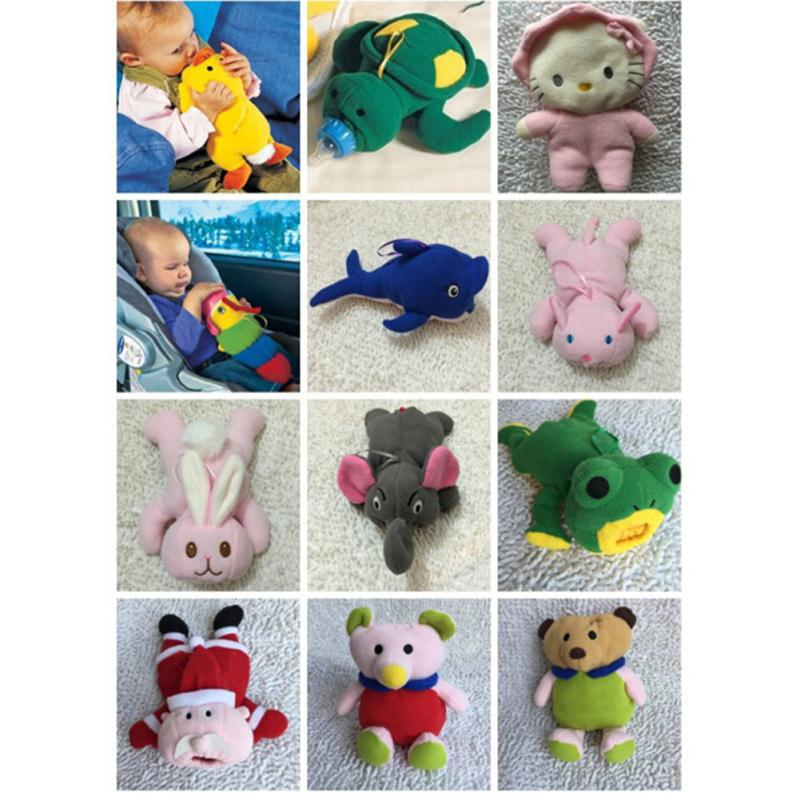 Baby Feeding Bottle Insulation Bag Animal Plush Toy Thermal Bag for Baby Bottles Bolsa Termica Thermos Baby Bottle Holder