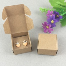 100Set Paper Jewelry Boxes&Earring Cards Kraft Earring Packing Box Blank accessory Packaging Jewelry Set Box DIY Gift Boxes(China (Mainland))