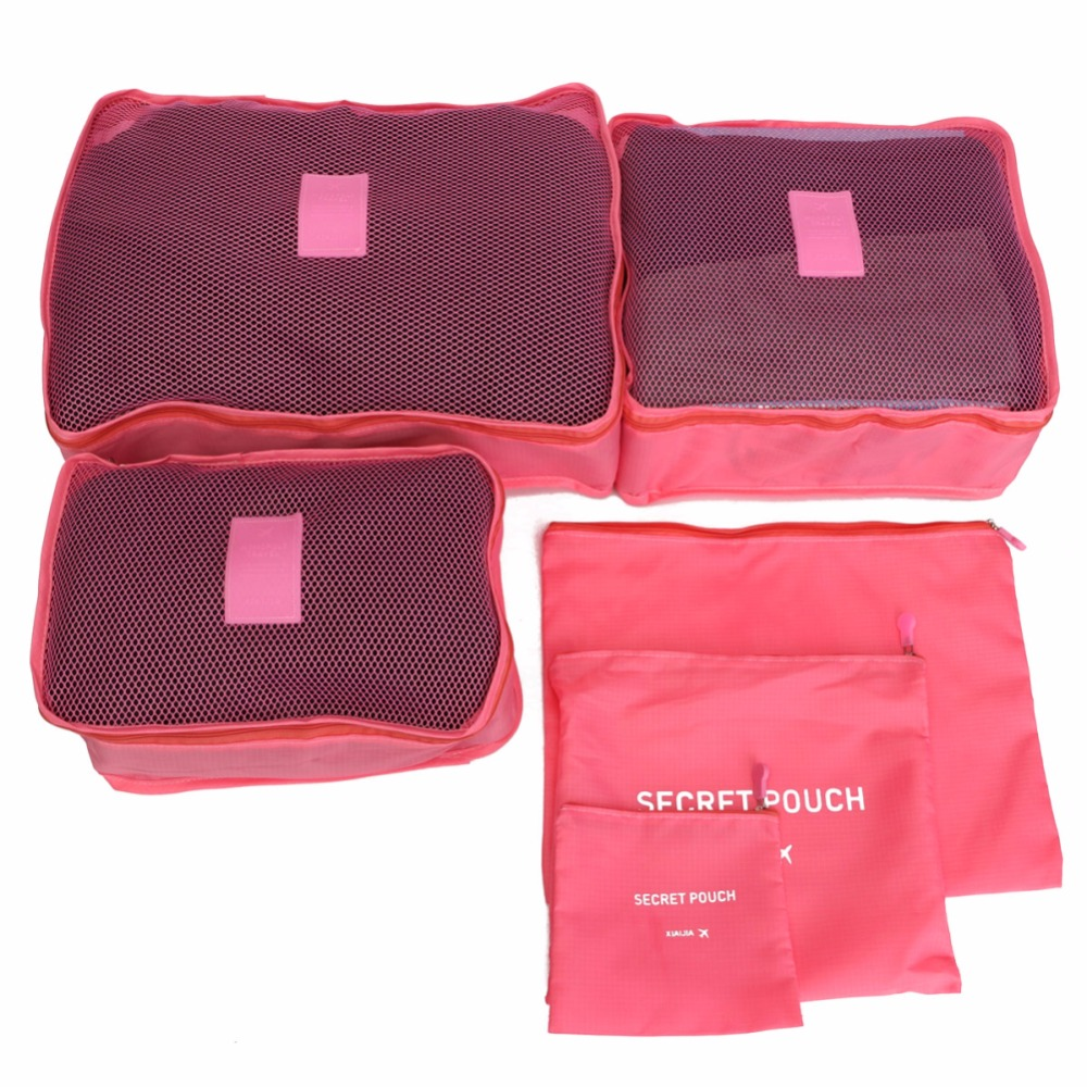 2016 Large Capacity Cosmetic Mesh Travels Storage Bags Laundry Pouch Underwear Organizer Packing Cube Traveling bag in bag-50(China (Mainland))