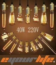 Eyourlife Vintage Edison Bulbs E27 Incandiscent  Bulbs For Decoration Of Living Room,Bedroom,Study ST64/A19/G80/G95/G125/T30/T45