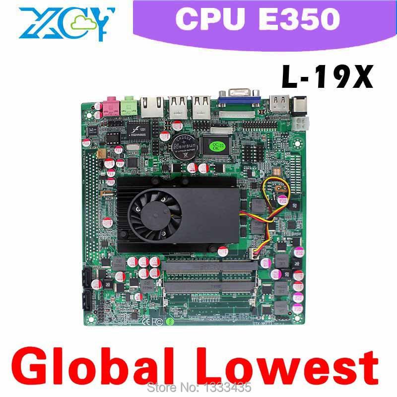 E450 Mini ITX Motherboard motherboard mini itx XCY L-19X Mini-ITX mini motherboard xcy E450 dual core 1.6GHZ CPU(China (Mainland))