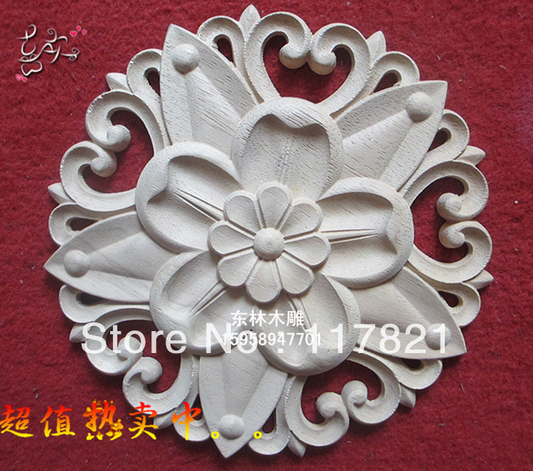 Dongyang wood carving furniture, home accessories applique patch European shavings round y-0045