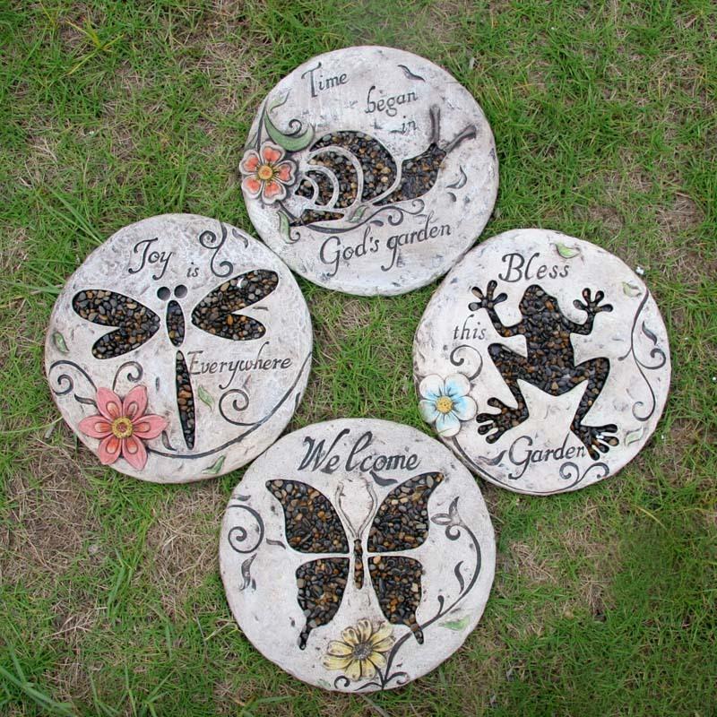 Online get cheap garden stepping stones for Decorative garden stones