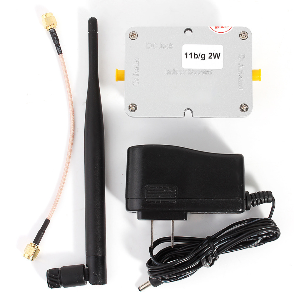 2W Wifi Wireless Broadband Amplifier Router 2.4Ghz Power Range Signal Booster Wireless Signal Booster