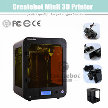 Hot Sale Smart Model Material 1 75mm PLA ABS Createbot Mini 3D Printer with Heatbed and