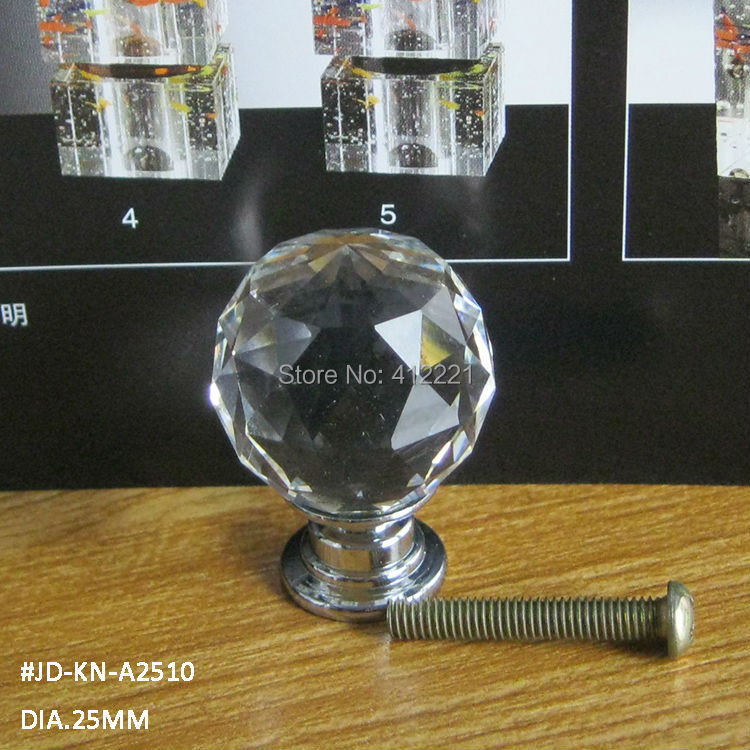 Free Shipping 350pcs Mixed K9 Crystal Door Knobs In Silver for Room decoration and different furniture from China factory 2015(China (Mainland))