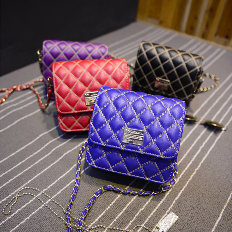 Small bags small plaid 2015 chain one shoulder cross-body square bag casual all-match women's handbag cosmetic - Fashion Online Global store