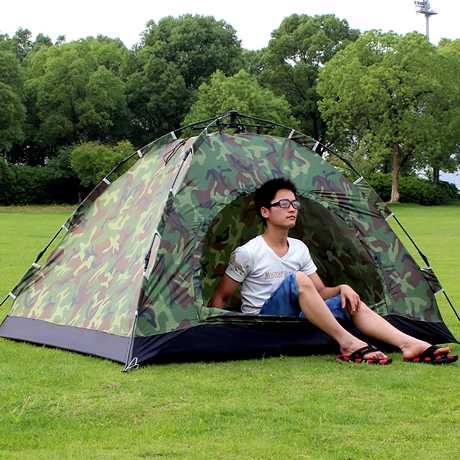 Double Camouflage automatic tent outdoor camping tent ultra-light 2 outdoor tent(China (Mainland))