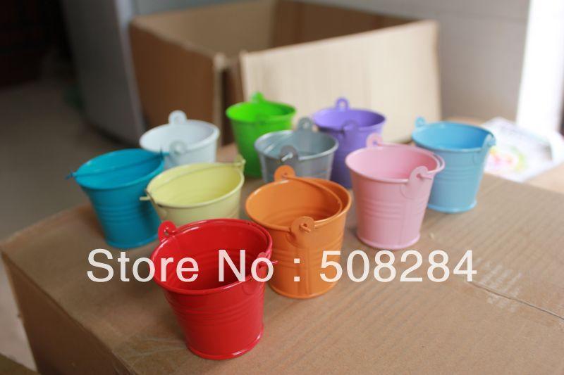 Wholesale 100pcs lot pink tin pails wedding favors for Cheap wedding favors bulk