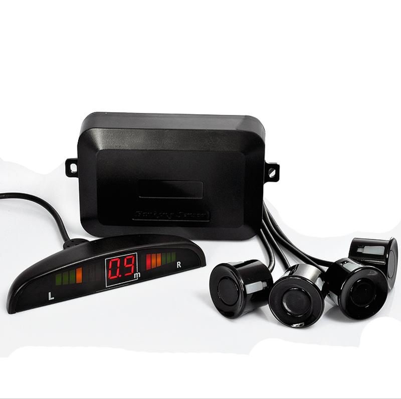 Distance Alarm Car LED Parking Sensor Kit Display 4 Sensors 22mm 12V Reverse Assistance Backup Radar Monitor System(China (Mainland))
