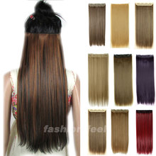 Long Clip in Hair Extensions One Piece 26 inches 66CM Straight Black Brown Blonde red Auburn