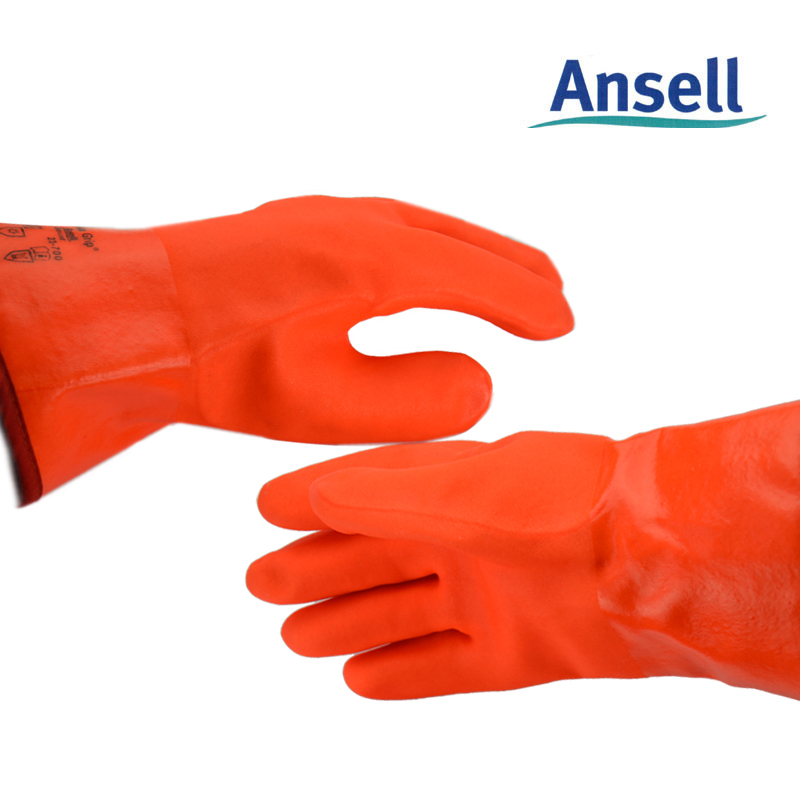 Ansell warm cold resistance, low temperature of liquid nitrogen waterproof gloves, laboratory refrigerator freezer(China (Mainland))