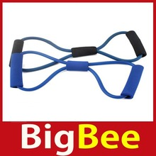 bigbee Resistance Bands Tube Workout Exercise for Yoga 8 Type Hot