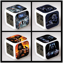 Star Wars Alarm Clocks digital watch Led Color Changing electronic desk LCD Display despertador DHL 20PCS(China (Mainland))