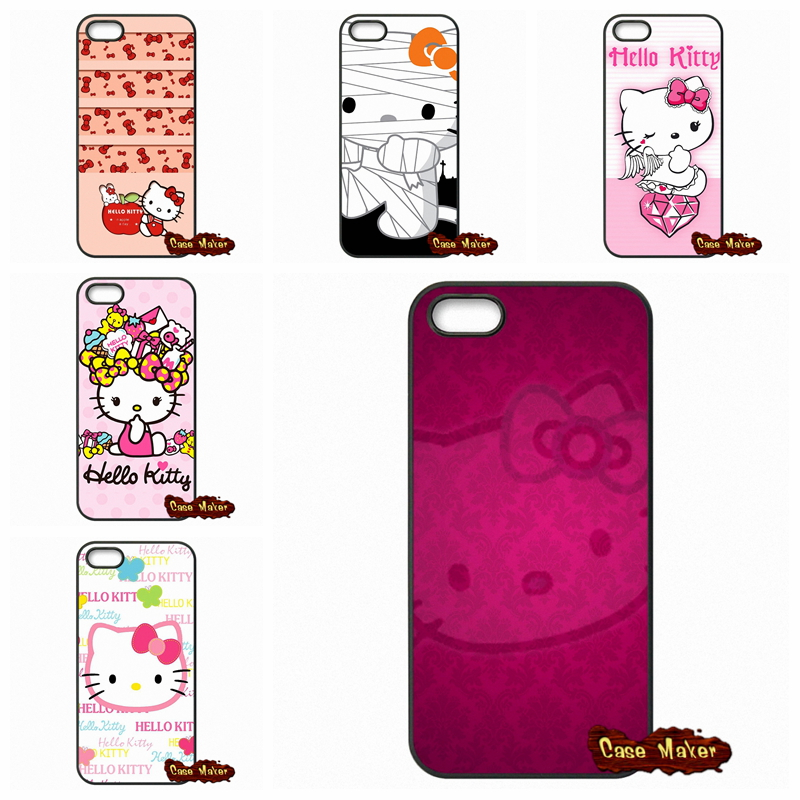 For Apple iPhone 4 4S 5 5C SE 6 6S Plus 4.7 5.5 iPod Touch 4 5 6 Cute Hello kitty My Melody Bow Covers Capa(China (Mainland))