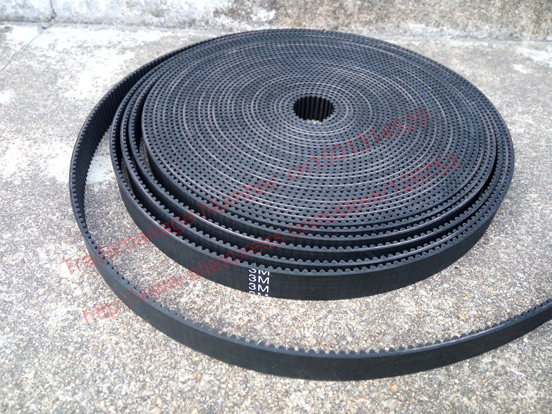 High Quality 10 Meters Rubber HTD 3M Timing Belt width 15mm with fiberglass core HTD3M Open ended 3M timing pulley CNC machine(China (Mainland))