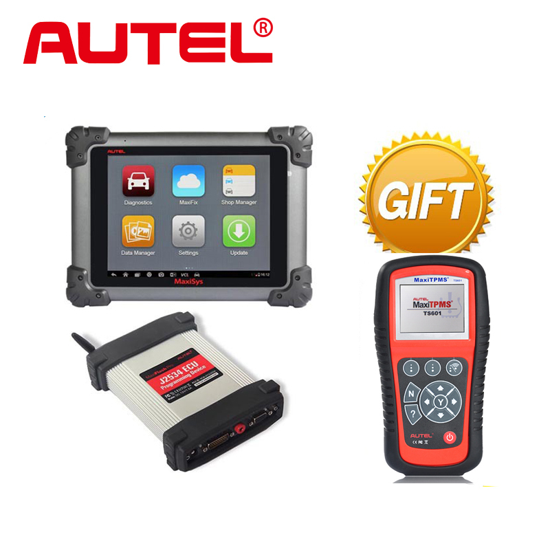 100% Original AUTEL MaxiSys Pro MS908P Car Diagnostic / ECU Programming Tool with J2534 reprogramming box  with WiFi free update(China (Mainland))