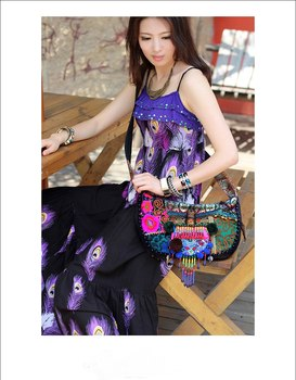 National wind embroidery trend india small bag messenger bag canvas bag national
