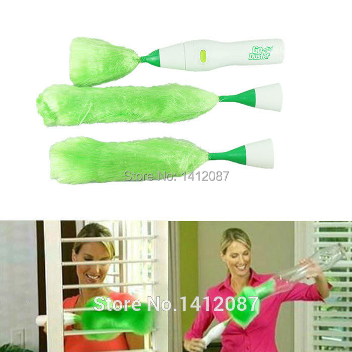 New Dust Cleaning Brush for Blinds Furniture Electronics,Multifunctional Electric Green Feather Dusters ,Free Shipping 1pcs(China (Mainland))