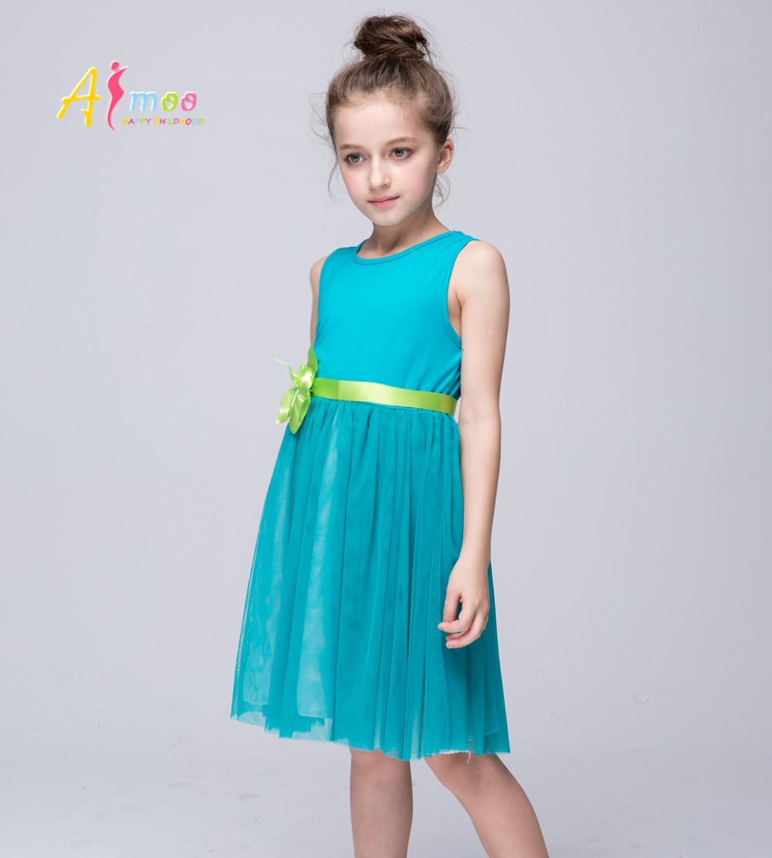 Christmas wedding dress korean - Girl Wedding Dress Christmas Prom Evening 2016 Summer High Quality Korean Childrens Clothing Kids Princess Flower Dress Afmoo