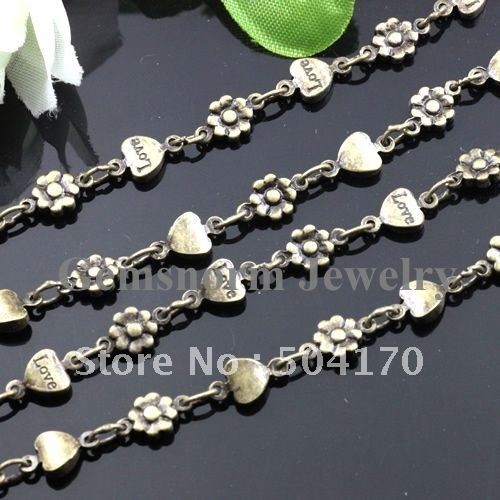10m/lot 5mm/4mm Bronze Antique Chains Jewelry Accessories DIY Decorative Chain Chains Free Shipping 411146<br><br>Aliexpress