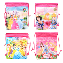 1pic princess school bags kids cartoon drawstring backpack& bag For kids bag back to school mochila infantil
