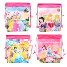 1pic princess school bags kids cartoon drawstring backpack& bag For kids bag back to school mochila infantil