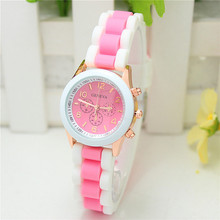 Children's Silicone Quartz Wrist Watches Kids Sports Watches Gift For Girls And Boys Students Wristwatches Colourful 15 colors(China (Mainland))