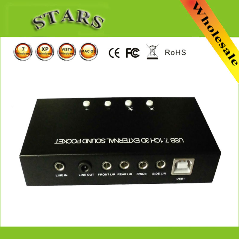 New external usb 7.1 Channel 35 3D Sound Pocket Box Sound Cards audio adapter Support Digital Audio Streaming soundcard Vista(China (Mainland))