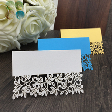 40pcs flower Laser Party Table Name Place Cards wedding table decoration wedding favors and gifts party supplies baby shower(China (Mainland))