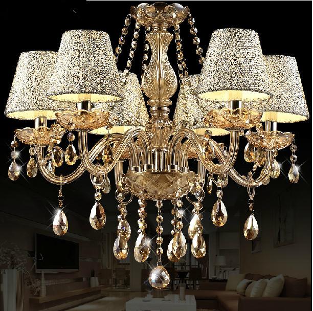 Buy moderne lustre en cristal au plafond for Lustre moderne pour salon