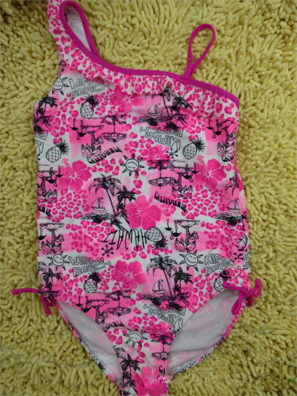 2015 New Rushed Girl Swimwear Kids One Piece Swimsuit Summer Beachsuit With Lace Swimming Sets For 14-18 Years Age Free Shipping(China (Mainland))