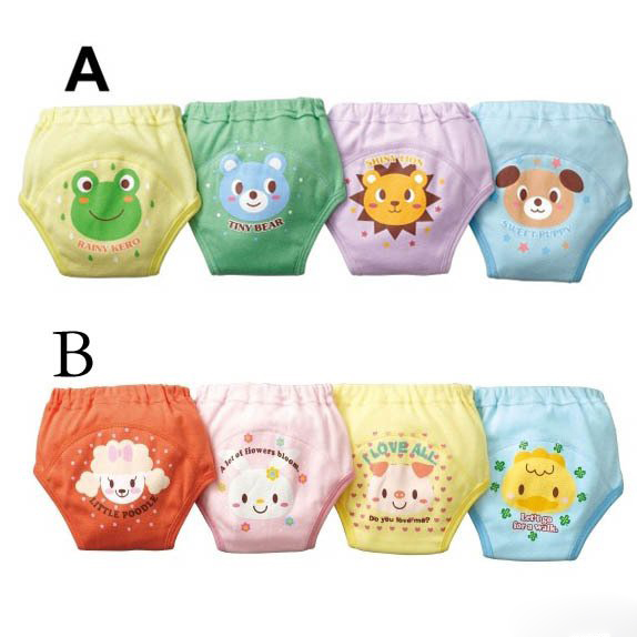 Free Ship 4 Layers Baby Training Pants Diapers Boy Girl Shorts Underwear Infant Nappies Waterproof 4 pieces SY004(China (Mainland))