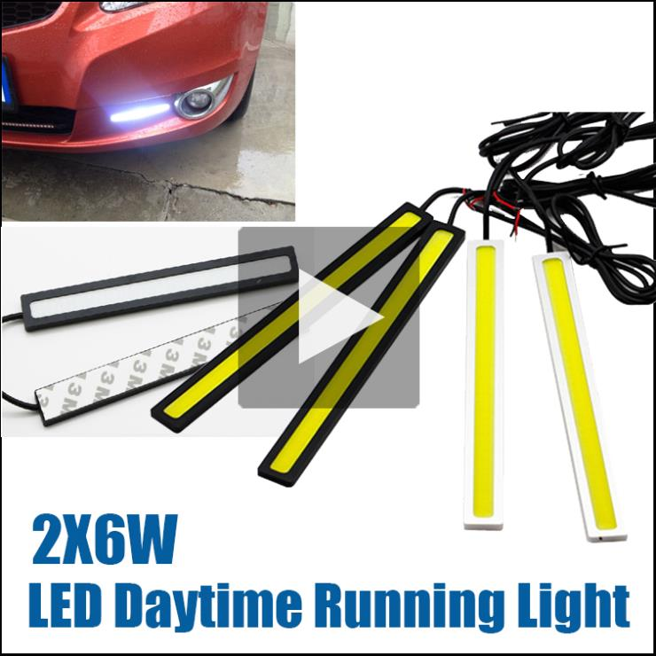 2pcs/Lot 17cm 100% Waterproof COB LED Lights DRL Daytime Running Light DIY Auto Lamp Fog car lights(China (Mainland))