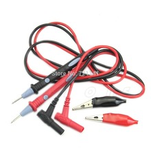 Free Shipping 20A 1000V Clamp Multi Meter Multimeter Probe Test Lead + Alligator Clips