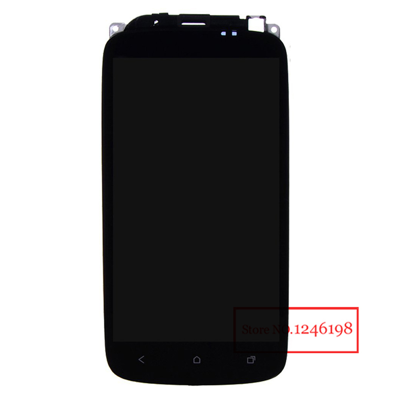 100% Original Full LCD Display Touch Screen Digitizer Assembly + Frame For HTC ONE S Z520e With LOGO Replacement(China (Mainland))