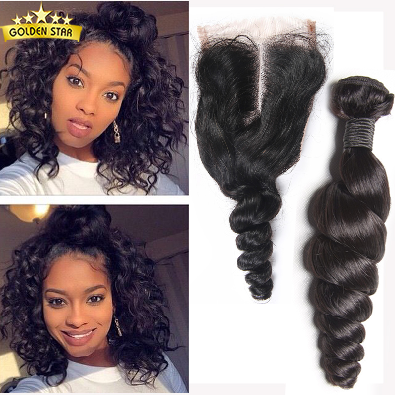 Malaysian Loose Wave With Closure 4 Bundles Of Malaysian Loose Wave With Closure Human Hair Lace Closure And Bundles Weave