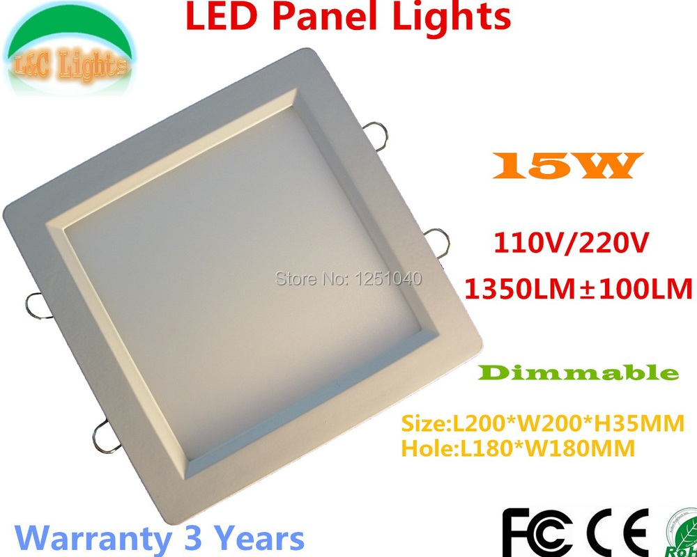 Dimmable 200MM*200MM 15W 1500LM Die-casting LED Panel,LED kitchen lights,110VAC/220VAC LED Downlights,Warranty 3 Year,5Pcs a Lot<br><br>Aliexpress