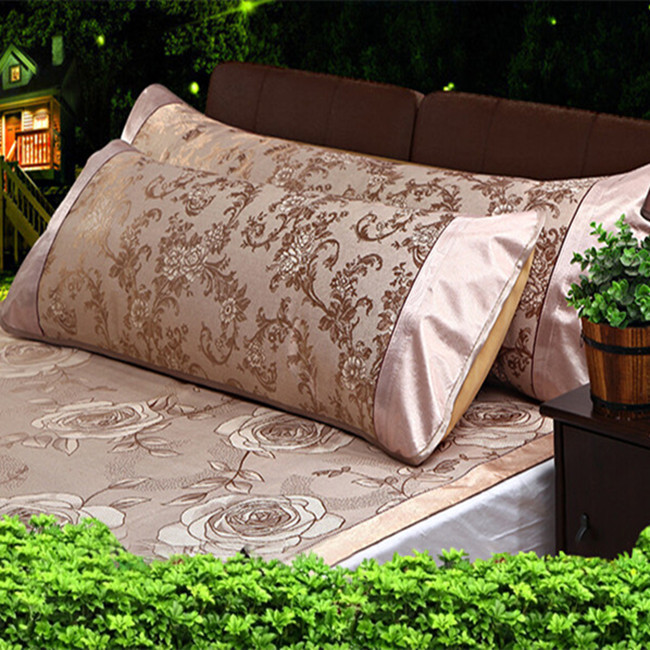 1.2 / 1.5 / 1.8 m Double pillowcases summer ice silk pillowcase mat long pillow case anti wrinkle cool waterproof pillow cover(China (Mainland))