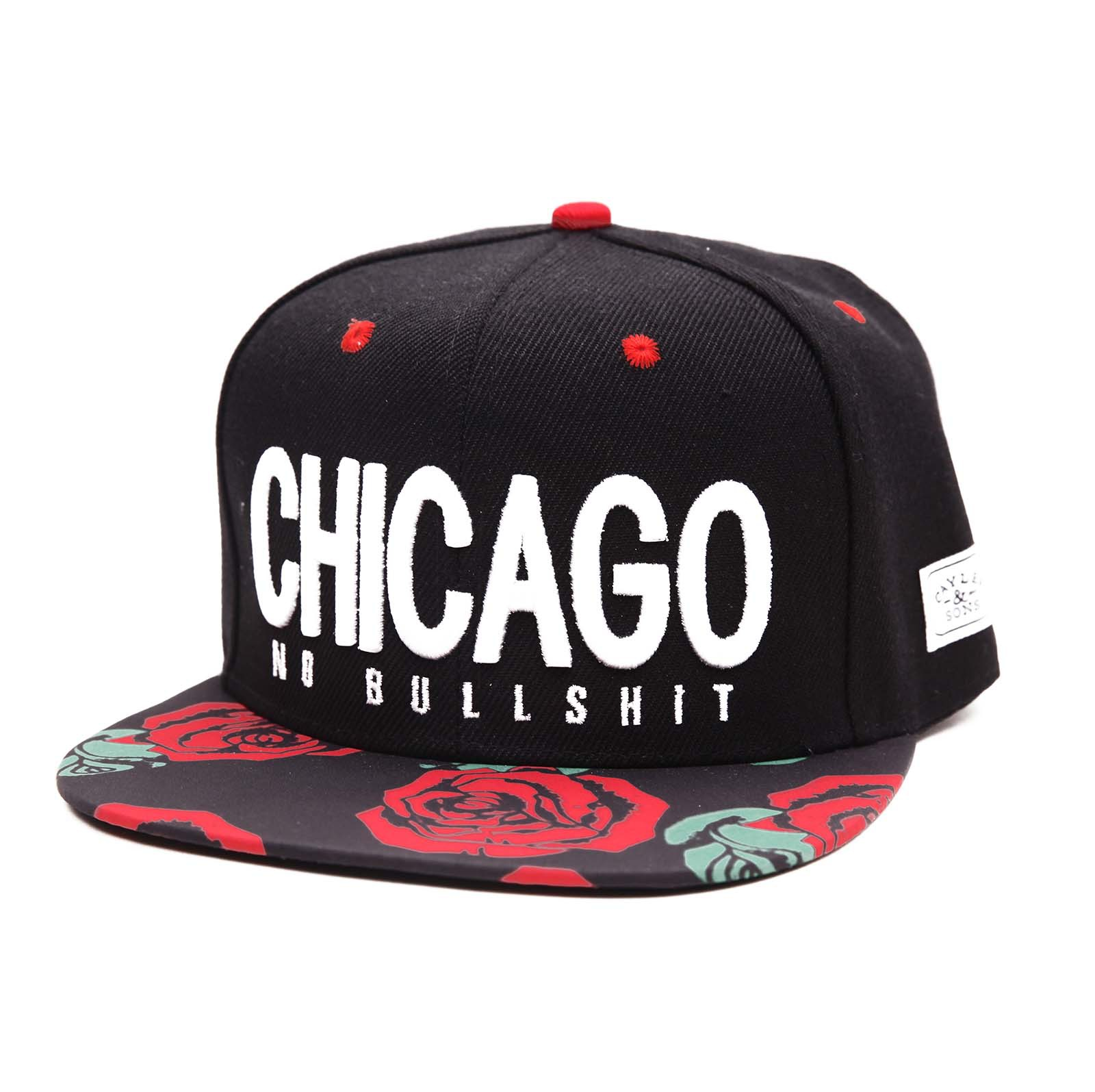 New Fashion Embroidery Cayler Chicago Rose Garden Visor Awesome Love Cap Hip Hop Casual Snapback Hats for Men Women(China (Mainland))