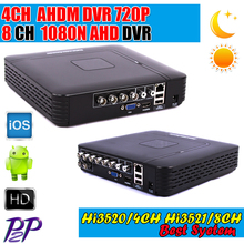 AHDM/N DVR 4 Kanal 8 Kanal CCTV AHD DVR AHD-M Hybrid DVR/1080 P NVR 4in1 Video Recorder Für AHD Kamera IP Kamera Analog kamera(China (Mainland))