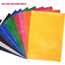 CAN choose ANY COLOR 100pcs/lot tissue paper 50X35CM gift wrapping paper flower packing paper for gift packing material(China (Mainland))