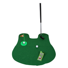 Funny Toilet Bathroom Mini Golf Accessories Mat Potty Putter Putting Game Novelty Gift BHU2(China (Mainland))